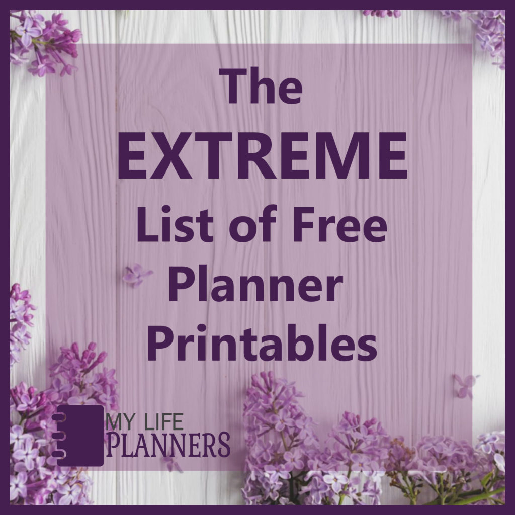 The Extreme List Of Free Planner Printables