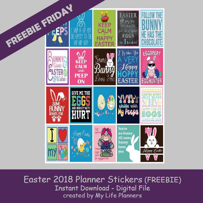 Easter freebies 2018